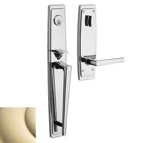 Lifetime Polished Brass Palm Springs Full Escutcheon Handleset