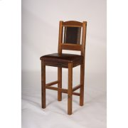 """Sequoia Bar Stool - 24"""" and 30"""" With Leather Seat - (24"""") Product Image"""