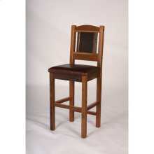 "Sequoia Bar Stool - 24"" and 30"" With Leather Seat - (24"")"