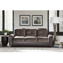Fully Upholstered Chocolate and Brown Sofa Bed