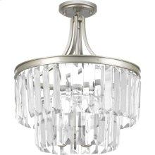 """Glimmer Collection Three-Light 19"""" Semi-Flush Convertible"""