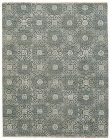 Siam-Flower Grey Hand Knotted Rugs