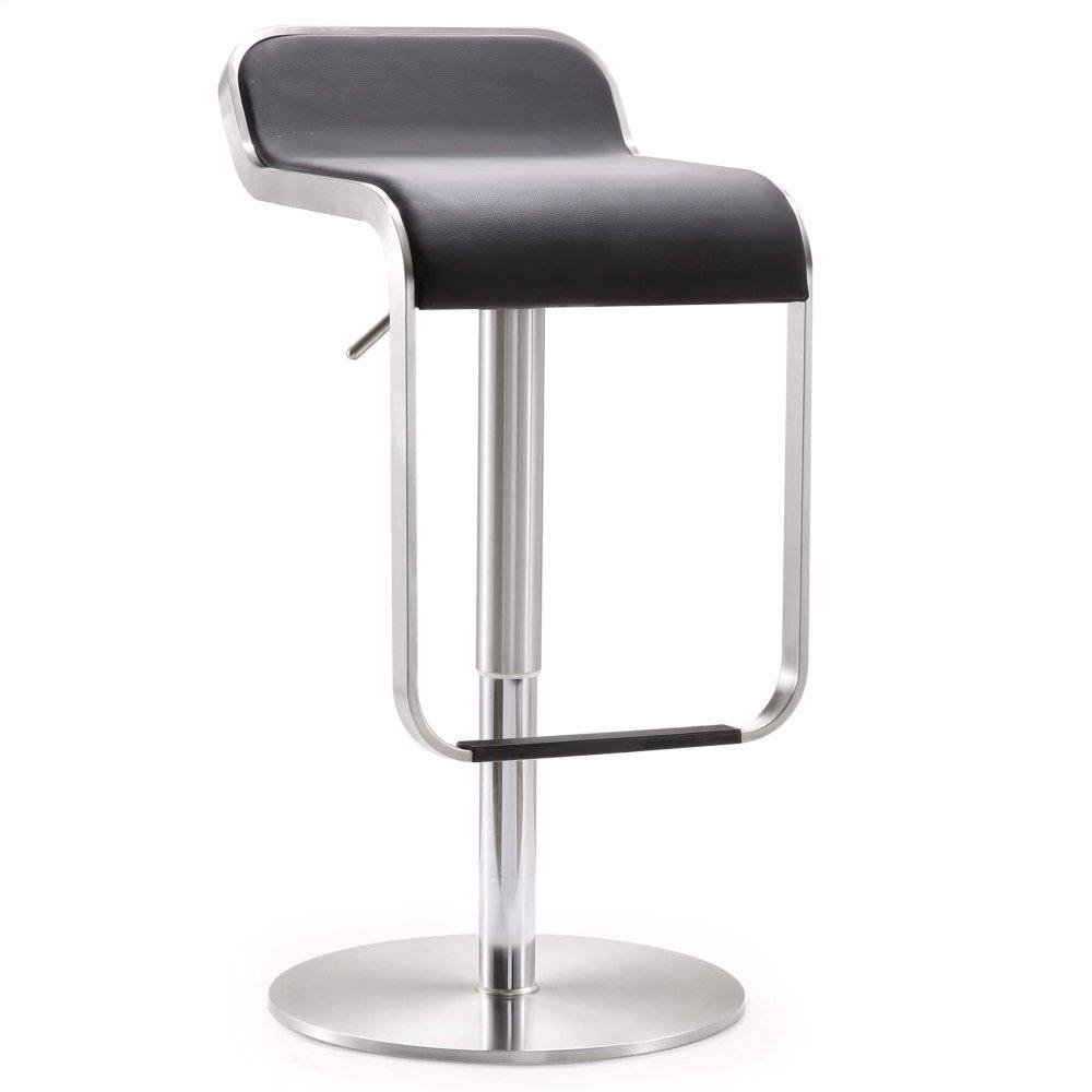 Napoli Black Stainless Steel Adjustable Barstool