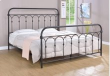 Hallwood Bed - King, Rust Black Finish