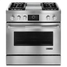 """Pro-Style® 36"""" Dual-Fuel Range with Griddle and MultiMode® Convection"""
