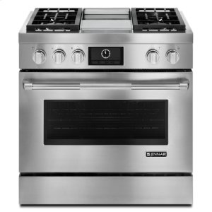 "Jenn-AirPro-Style® 36"" Dual-Fuel Range with Griddle and MultiMode® Convection"