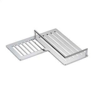 Polished Chrome Combination Corner Shower Shelf - Left Product Image