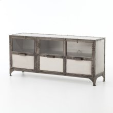 Antique Nickel Finish Element Media Console