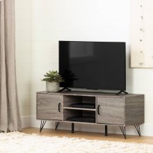 """TV Stand with Doors for TVs up to 55"""" - Oak Camel"""