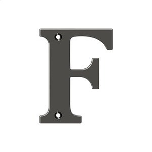 "4"" Residential Letter F - Oil-rubbed Bronze Product Image"