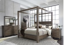 Queen Canopy Bed, Dresser & Mirror, Chest, NS