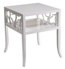 Cotton White Twig End Table