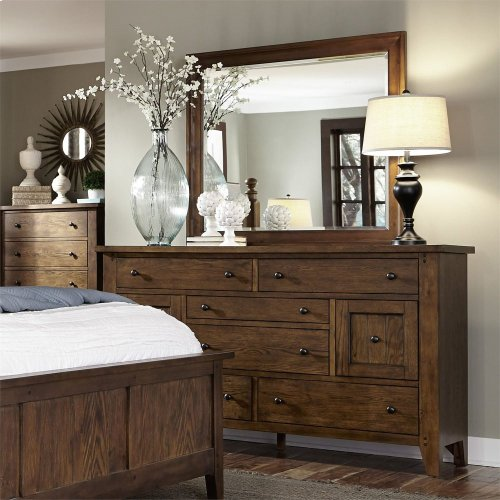 King Poster Bed, Dresser & Mirror, Chest, NS