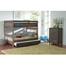 Wrangle Hill Gun Smoke Trundle With Bunkie Mattress