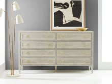 Gustavian Dresser, Painted Antique Grey With Gold Leaf Detailing