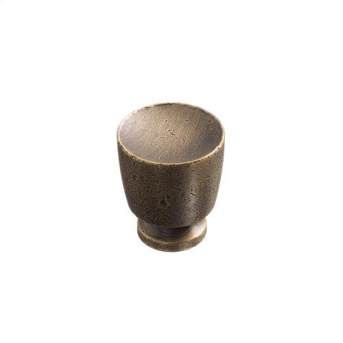 "1"" Knob - Distressed Antique Brass"