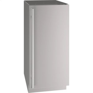 """U-Line 5 Class 15"""" Refrigerator With Stainless Solid Finish And Field Reversible Door Swing (115 Volts / 60 Hz)"""