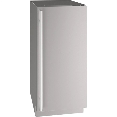 """5 Class 15"""" Refrigerator With Stainless Solid Finish and Field Reversible Door Swing (115 Volts / 60 Hz)"""