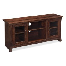 "Garrett TV Console with Glass Doors and Open Center, Garrett TV Console with Glass Doors and Open Center, 60""w"