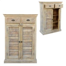 Bengal Manor Mango Wood Tall 2 Drawer 2 Door Cabinet