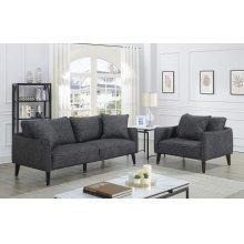 Asher Charcoal Sofa & 1.5 Chair, U5203