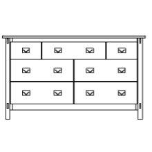 "Savannah 7 Drawer 66"" Dresser"