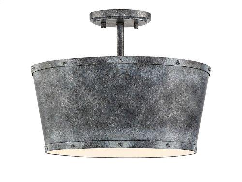Dover 3 Light Semi Flush