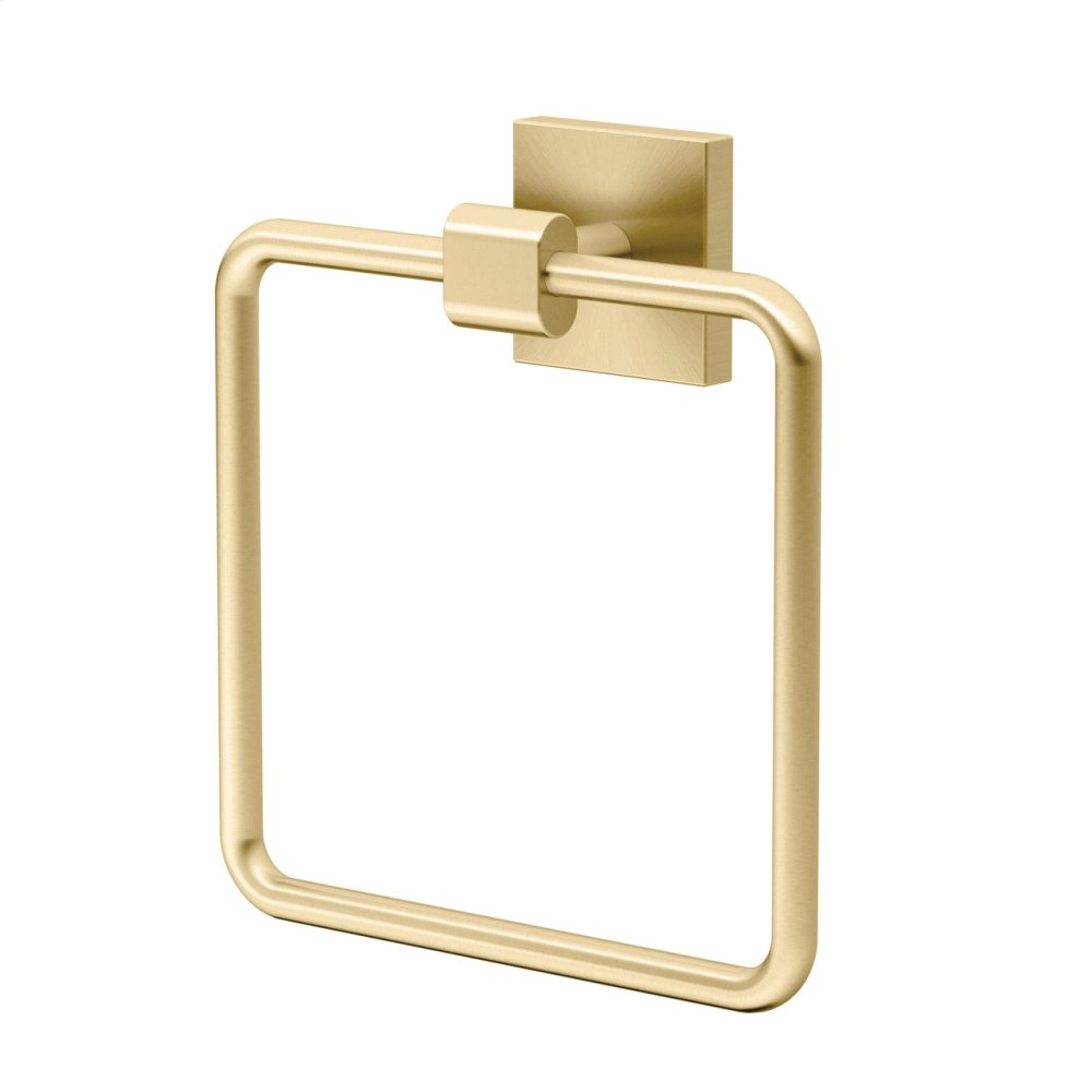 Elevate Towel Ring - Solid Brass in Brushed Brass