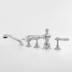 1800 Series Roman Tub Set with Diverter Handshower and Ascot Handle (available as trim only P/N: 1.187793T)