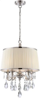 Pendant - Chrome/fabric Shade/crystals, E12 Type B 25wx5 Product Image