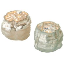 Organic Luster Tealight Holder (2 asstd).