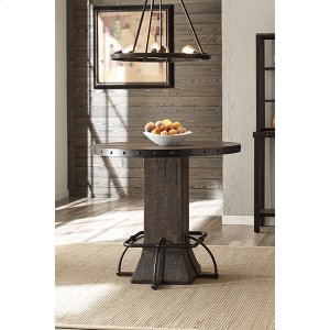 Hillsdale FurnitureJennings Round Counter Height Table - Distressed Walnut Wood / Brown Metal