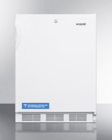 Built-in Undercounter ADA Compliant Refrigerator-freezer for General Purpose Use, With Dual Evaporator Cooling, Cycle Defrost, Lock, and White Exterior