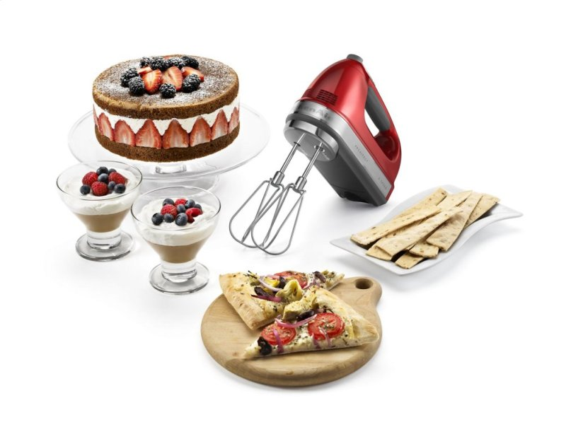 9 Speed Architect Series Hand Mixer Candy Apple Red