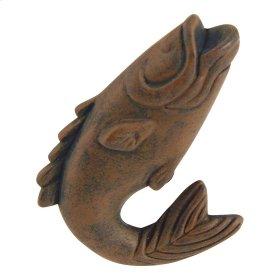 Fish Knob 2 1/4 Inch - Rust