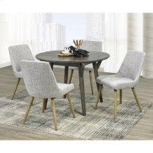 Mira/Mia 5pc Dining Set, Grey/Light Grey