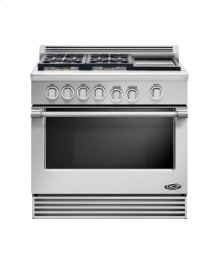 "36"" Professional, 4 Burner Gas Range W/griddle"