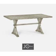 """72"""" Solid Rustic Grey Dining Table"""