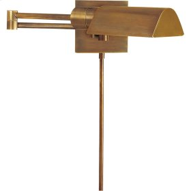 Visual Comfort 92025HAB Studio 25 inch 60 watt Hand-Rubbed Antique Brass Swing-Arm Wall Light