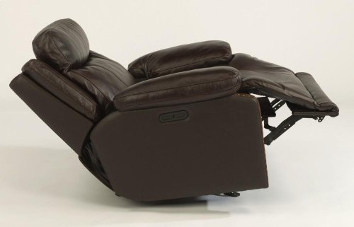 Russell Leather Power Gliding Recliner with Power Headrest