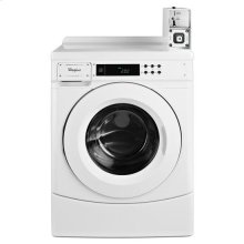 """Whirlpool® 27"""" Commercial High-Efficiency Energy Star-Qualified Front-Load Washer Featuring Factory-Installed Coin Drop with Coin Box - White"""