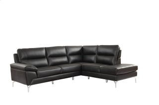 Cairn Leather Sectional Black