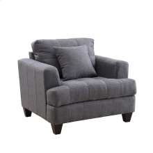 Samuel Transitional Charcoal Chair