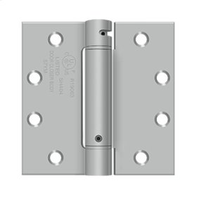 """4 1/2""""x 4 1/2"""" Spring Hinge, UL Listed - Brushed Stainless"""