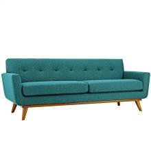 Engage Upholstered Fabric Sofa in Teal