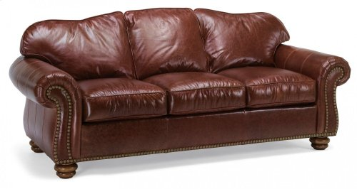 Bexley Leather Sofa with Nailhead Trim