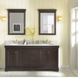 "FAIRMONT DESIGNSProvidence 72"" Double Bowl Vanity - Aged Chocolate"
