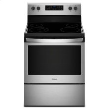 Whirlpool® 5.3 cu. ft. Freestanding Electric Range with 5 Elements - Black-on-Stainless