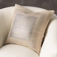 Square Printed Jute Pillow-Silver
