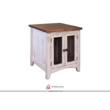 End Table with 2 Mesh doors